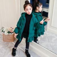 女童棉衣2018新款韩版中长款洋气宝宝冬装外套厚棉袄儿童羽绒