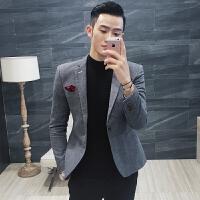 新款春装英伦复古休闲小西装男士韩版绅士西服便西发型师外套