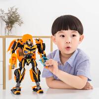 合金变形玩具大黄蜂汽车人机器人模型儿童男孩玩具