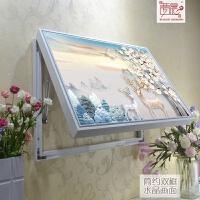 欧式装饰画电闸配电箱可推拉遮挡客厅现代简约画