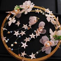 新娘头饰森系仙美头饰甜美花朵发箍韩式结婚发饰耳环套装