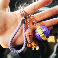 篮球钥匙挂件NBA篮球钥匙扣挂件詹姆斯库里公仔潮流背包全明星球迷纪念品 湖人