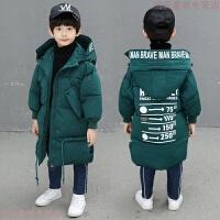 童装男童羽绒外套冬装2018新款中大儿童棉衣中长款棉袄韩版潮