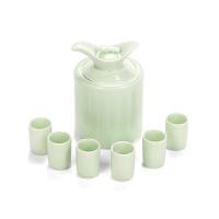 龙泉青瓷酒具套装酒壶白酒陶瓷创意家用小酒杯仿古中式个性整套