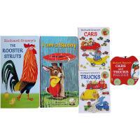 【全店300减100】Richard Scarry's斯凯瑞经典作品5本套装 纸板书 I am a bunny The