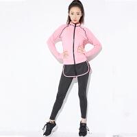 瑜伽服 女士显瘦速干瑜伽服2020秋冬新款女式休闲户外健身运动五件套