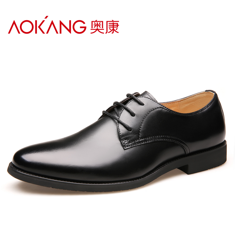奥康男鞋春季新款商务休闲皮鞋正装鞋男士皮鞋男鞋子