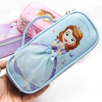 小学生手提笔袋女童迪士尼公主苏菲亚儿童文具盒韩国笔盒大容量铅笔袋
