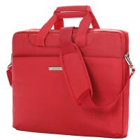 卡陆斯 电脑包13.3 14.1英寸男女单肩手提笔记本包苹果联想戴尔华硕三星电脑包