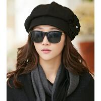 韩版潮八角帽冬季毛呢画家帽女秋冬时尚英伦贝雷帽冬天