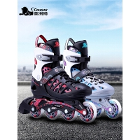 初学者溜冰鞋全套成年男女生闪光休闲单直排旱冰轮滑鞋