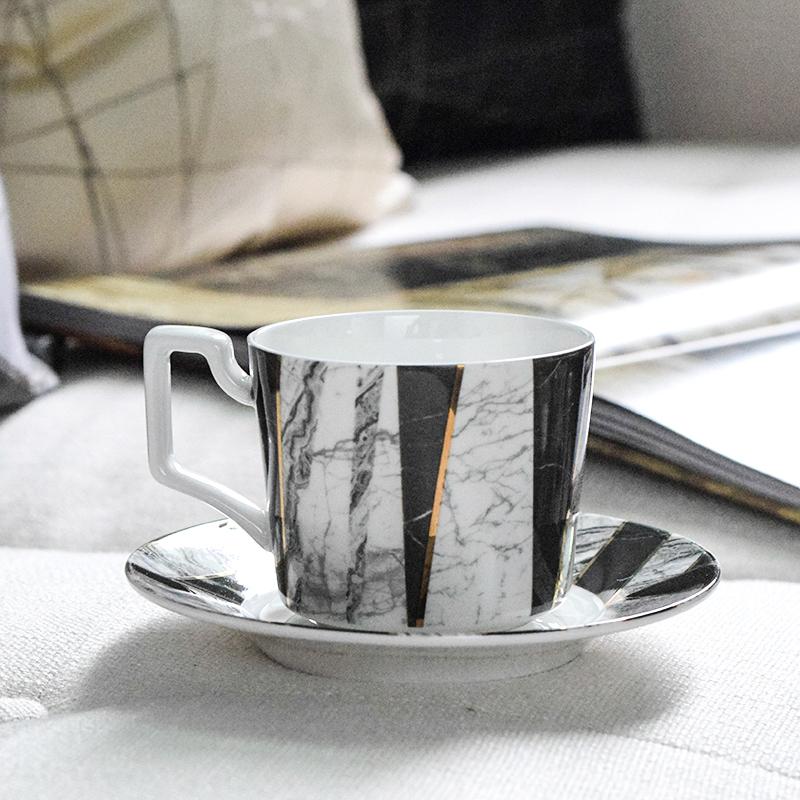 骨瓷咖啡杯碟套装简约欧式英式下午茶杯花茶杯陶瓷