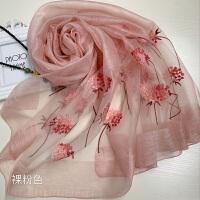 上海故事真丝羊毛刺绣春秋冬韩国百搭礼服婚纱长款新款围巾披肩