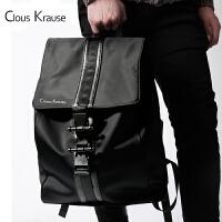 【1件3折,到手价:164.4元】Clous Krause 双肩包CK男包男士时尚简约型休闲男包运动潮流手提双肩背包电脑包