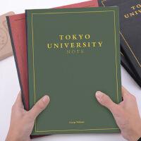 A4东京大学笔记本考研烫金高效学习笔记本子考虫女大学生