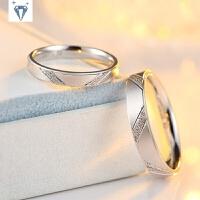S925纯银情侣戒指简单弧面光圈闭口一对学生死口对戒求婚戒闺蜜戒