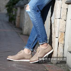 西瑞休闲鞋子男新款男士英伦镂空皮鞋真皮复古商务休闲男鞋XR8157