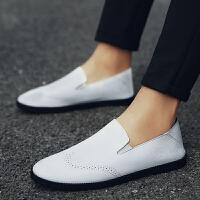 男鞋豆豆鞋男士休闲皮鞋2018新品懒人鞋驾车鞋套脚超纤皮鞋子板鞋男