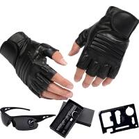半指手套男摩托车霹雳女 半截手套户外训练战术特种兵手套 均码