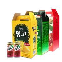 海太饮料进口果汁韩国办公室休闲解渴饮品罐装 混合口味*15罐