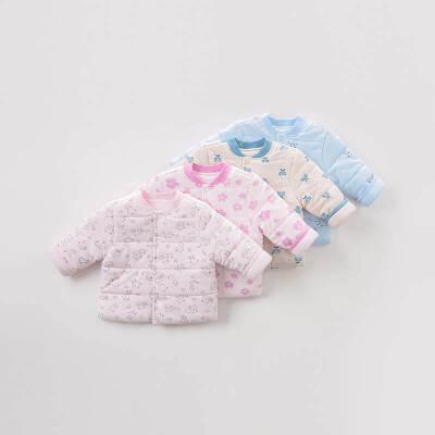 戴维贝拉冬季新款儿童加厚保暖棉服 宝宝夹棉上衣DB9445 棉质面料 手感柔软 加厚保暖 4色可选