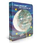 英文原版Papa Please Get the Moon for Me 【纸板书】 爸爸请为我摘月亮 入门启蒙 Eri