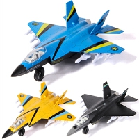 男孩彩珀合金飞机模型仿真歼31战斗机歼击机声光回力儿童智力玩具