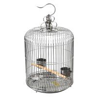 不锈钢鸟笼子小号大号超大特大号八哥鹩哥养殖笼圆型加粗鹦鹉鸟笼