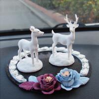 汽车摆件一路平安车内装饰品可爱车载车上男女保平安创意小鹿公仔