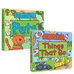 英文原版绘本 Pop And Play: Zoo Animals/Things That Go/Pets 3册合售ST