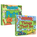 英文原版绘本 Pop And Play: Zoo Animals/Things That Go/Pets 3册合售ST