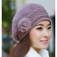 冬季帽子保暖女韩版时尚女帽  秋冬贝雷帽兔毛帽子潮款冬天女士帽子