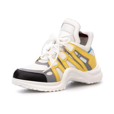 星期六(ST&SAT)专柜正品时髦牛皮革异形底撞色休闲运动鞋时髦老爹鞋SS83112270