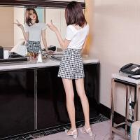 夏季女省心搭配女装套装小清新高腰洋气短裤套装短袖时尚两件套潮