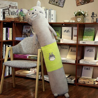 睡觉抱枕长条枕公仔可爱毛绒玩具枕头男娃娃玩偶女生日圣诞节礼物 龙猫 小号95厘米