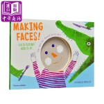 【中商原版】儿童艺术涂画书 做鬼脸! 英文原版 Making Faces! 儿童绘画活动书 激发创意 美育