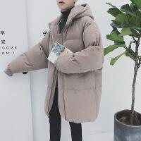 男士外套冬季棉衣男韩版潮流学生宽松中长款面包服帅气棉袄子