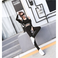 新款爵士舞演出服嘻哈运动套装女舞蹈练功服现代舞服装三件套