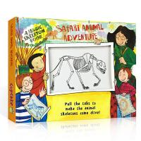 英文原版 Safari Animal Adventure 野生动物 百科科普抽拉机关变色书 儿童早教益智科普