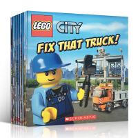 【全店300减100】英文原版童书 Lego City 乐高城市7本故事图画书 Scholastic 学乐出版 绘本英语