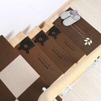 家用防滑实木楼梯垫踏步垫免胶自粘满铺小地垫地毯子 55*20.5*4.5cm1片