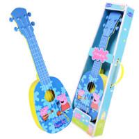 小猪佩奇尤克里里儿童初学者小吉他玩具佩琪仿真弹奏乐器男女孩