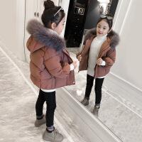 女童棉衣2018新款冬装洋气加厚外套儿童大毛领女孩宝宝棉袄潮