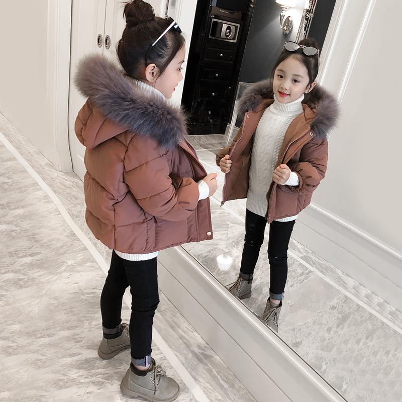 女童棉衣2018新款冬装洋气加厚外套儿童大毛领女孩宝宝棉袄潮 发货周期:一般在付款后2-90天左右发货,具体发货时间请以与客服协商的时间为准