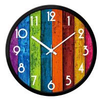 挂钟客厅卧室创意田园现代简约静音时钟石英钟表挂表