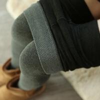 哑光加厚加绒连裤袜秋微压美腿袜黑灰色棉瘦腿打底袜连脚打底裤