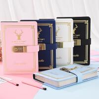 复古密码本创意学生日记本带锁笔记本日韩国加厚手账本笔记本文具
