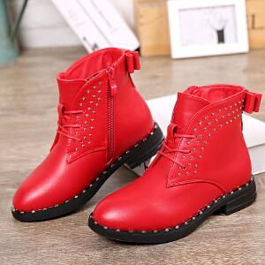 17cm~23cm巴布豆童鞋 女童马丁靴2016冬季新款公主靴保暖冬靴潮流女童靴子