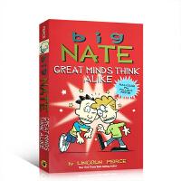 英文原版绘本 Big Nate: Great Minds Think Alike 英雄所见略同 提升儿童课后阅读英语全