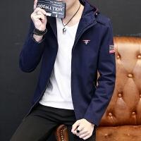 新款2018男士夹克时尚春秋季青年夹克外套修身韩版男士外衣薄潮流